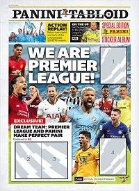 Premier League Panini Tabloid Special Edition swaps